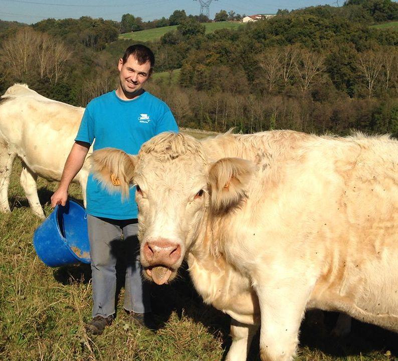 Nicolas Rousset - Eleveur de bovins à Vernioz (38)